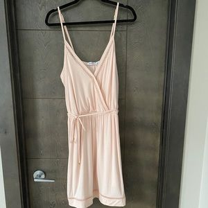 JustFab blush V-neck Dress